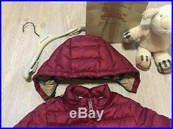 100 % AUTHENTIC Burberry baby puffer jacket size 12 month\80cm