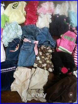12 month Baby Girl clothes clothing Lot bundle 45 piece pjs coat shirts pants