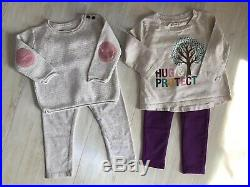 13 Piece Lot of 6-12-24 Month Baby Girl Fall Winter Clothing Top Pant Dress