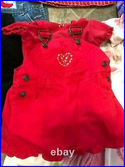 23-Pieces Lot of Baby Girls Clothes 12 Months Dresses Overalls Pants Name Brands