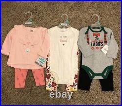 24 Pcs Baby Girl Clothes Bundle 0-12