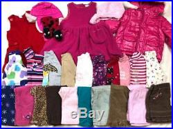 26 pc BABY GIRL 18-24 Months FALL & WINTER CLOTHES LOT Jeans Pants Coat Shirts