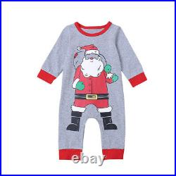 30XNewborn jumpsuit baby Christmas grandfather clothes winter long sleeve F9C7