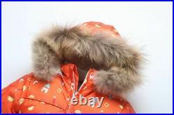 -30 Baby Snowsuit Winter Warm Clothing Fleece Jumpsuit 90% Duck Down Jacket Kids