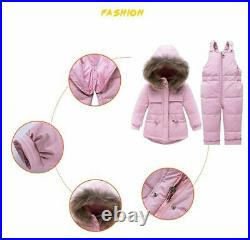 -30 Winter Down Jacket Kid Overalls clothes Children Baby Parka Coat Toddler Set