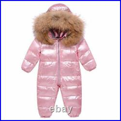 -30 Winter Snowsuit Boy Baby Jacket 90% Duck Down Outdoor Infant Clothes Girls