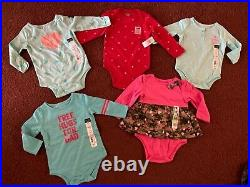 31Pc. HUGE Size 6-12 Months BABY GIRLS CLOTHING LOT Wardrobe Outfits NEW