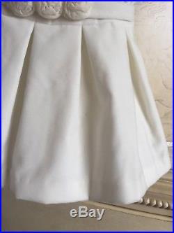 $324 Il Gufo Baby Girl Sz 6M Months Velvet Designer Dress Christmas Holiday