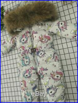 -35 Degree 2019 Children's Clothing Flamingo Baby Children's Teen Winter Jumpsui