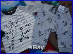 36x WINTER TIGER NEW BUNDLE OUTFITS BABY BOY CLOTHES 0/3 MTHS 3/6 MTHS+ NRF