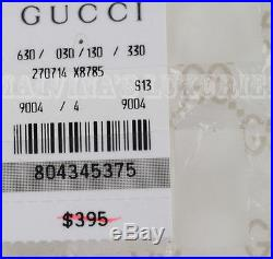 $395 GUCCI GIRL'S CARDIGAN RUFFLE KNIT LONG SLEEVE TOP LOGO CRYSTAL DETAIL sz 4
