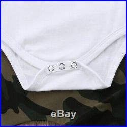 3PCS Newborn Baby Boy Infant Clothes Top Camo Pants Kids Outfits Set Tracksuit