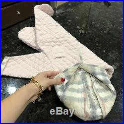 3 Months NB Authentic Burberry Baby Girls Snowsuit Swaddle Coverall Pink Infant