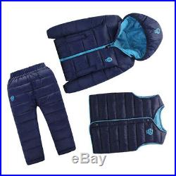 3 Pcs Lot Winter Baby Girls Boys Clothes Sets Children Down Cotton padded C J5P7
