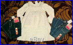 $450 Nwt Gymboree Gap Girls Size 3 3T Winter Lot top jeans Dress Sweater Set