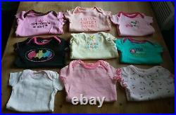 65 Piece Baby Girl Clothing Lot Sizes 3-6 & 6 month oneies sleepers outfits etc