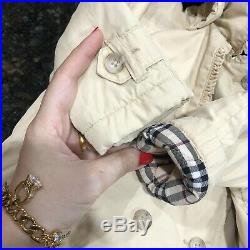 6 Months (3m+) Authentic Burberry Baby Girl Jacket Trench Coat Beige Hooded Kids