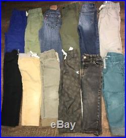 70 Pc Mixed Lot Boys Clothing 24M 2T 2 Toddler Kids Pants Shirts Tops Bottoms PJ