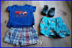 74 Piece Baby Boy Clothing Lot Sizes 0-3 & 3 Month. Outfits sleepers oneies etc