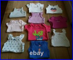 76 piece Baby Girl Clothing Lot Sizes 0-3 & 3 month. Outfits sleepers shorts etc