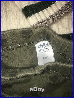 7 Pc Lot Baby Boy Clothing Sweater Pants Body Suit Sweat Jacket 6/12M