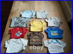 80 Piece Baby Boy Clothing Lot Sizes Newborn & 0-3 Month outfits sleepers oneies