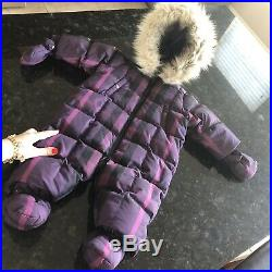 9 Months (6m+) Authentic Burberry Snowsuit Jacket Swaddle Baby Coverall Boy Girl