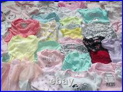 ADORABLE NEWBORN 0-3 3 Mo Fall Winter Baby Girl Clothes Lot Bodysuits Outfits