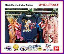 AUS WHOLESALE BABY KIDS CLOTHING Tigger Bodysuit Growsuit MYER STOCK From $4