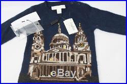 AUTH $295 Burberry Children Boy 100% Cashmere One Piece Sweater