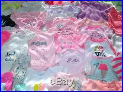 Adorable Baby Girl Newborn Fall Winter sz NB 0-3 Clothes Outfits Sets lot 60 pcs