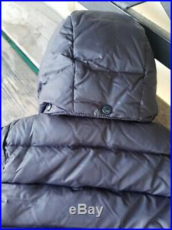 Authentic MONCLER BABY SZ 12-18M NAVY BLUE Puffer Jacket full zip down coat