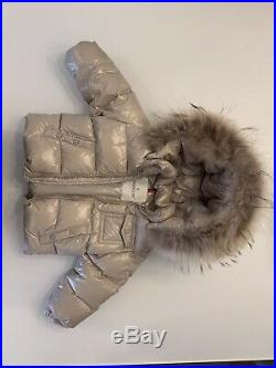 Authentic Moncler Beige Kids Coat With Pants 18-24 Months