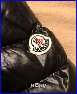 Authentic Moncler Infant Baby Pure Goose Down Hooded Puffer Jacket Black Grey