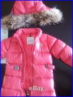 03471da543b3 Authentic Moncler baby girl Down Snowsuit with detachable hood size ...