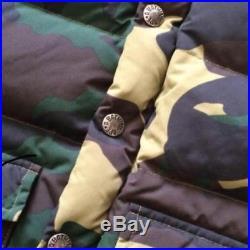 BAPE KIDS A Bathing Ape Camouflage Down Jacket Camo Coat Outer 5T Green Japan