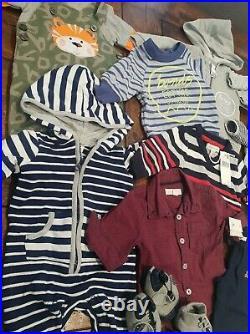 Baby BOYS clothes bundle Size 000 0 to 3 months 13 items. JUMPSUITS BONDS GAP +