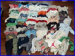 Baby Boy 6-9 9-12 Mo Carter's gerber Jordan Oufit bodysuit Clothes huge Lot 70
