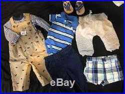 Baby Boy Clothing Size Newborn & 0-3 Months Lot Of 60 Pieces