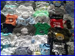 Baby Boy Newborn 0-3 Mos Fall Winter Clothes Outfit Sleepers Bodysuits Lot