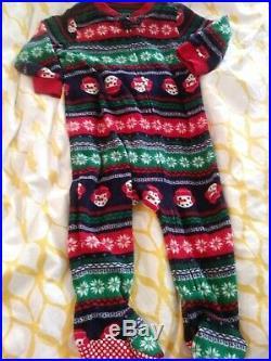 Baby Boy Size 6-12 Months 40pc Fall Winter Clothing Lot Sleeper Pants Shirts Hat