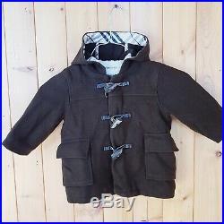 Baby Boys Burberry whool Duffle Coat 12 Months winter Jacket nova check original