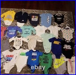 Baby Boys Clothing Bundle Infant Size NB 3 6 Month Bulk Wholesale Mixed Outfits