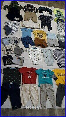 Baby Boys Huge lot/ 76 Size 0-6 Months Fall/ Winter Clothes Puma, Carter's. ++++