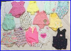 Baby Girl Clothes 120+ Lot Infant/Toddler Newborn 6-12+mo Mixed Brand