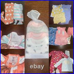 Baby Girl Clothes Lot NEWBORN DIAPERS INCLUDED