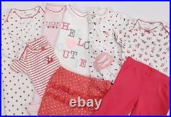 Baby Girl Clothes Newborn 0-3 Month Bodysuits Pants Sleepers Gown Mixed 35Pc Lot