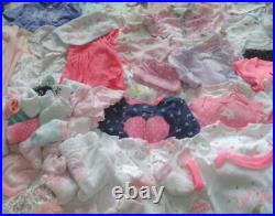 Baby Girl NEWBORN 0-3 3 Months Fall Winter Clothes Outfit Sleeper Bodysuits Lot