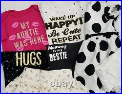 Baby Girl Newborn 0-3 & 3-6 Months Clothes Lot Bodysuits Romper Dress Outfits