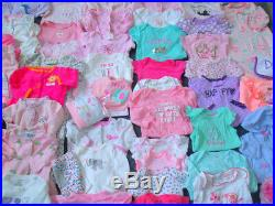 Baby Girl Newborn 0-3 3 months Fall Winter Clothes Pajamas gowns lot